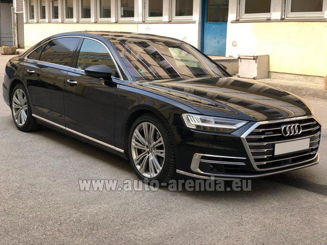 Transfer from Prague to Munich by Audi A8 Long 50 TDI Quattro car
