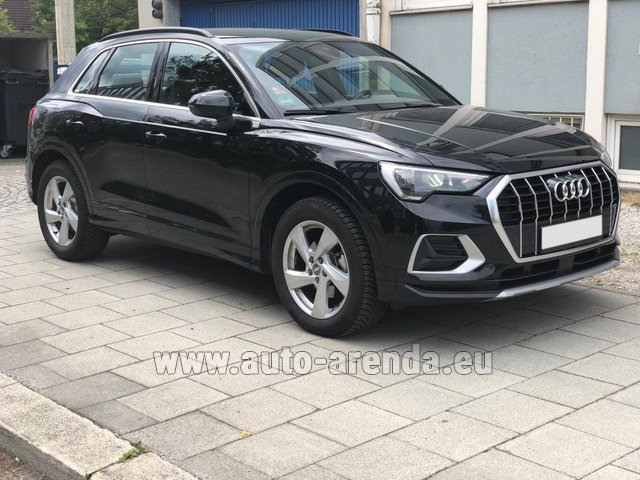 Hire and delivery to Prague Airport the car Audi Q3 35 TFSI Quattro