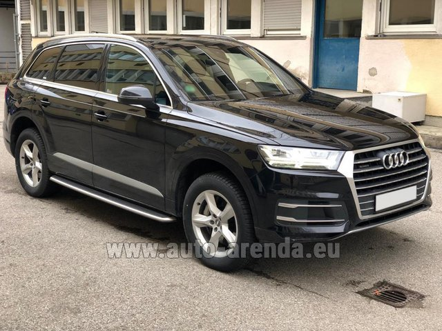 Hire and delivery to Prague Airport the car Audi Q7 50 TDI Quattro 5-7 seats