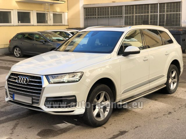 Hire and delivery to Prague Airport the car Audi Q7 50 TDI Quattro White