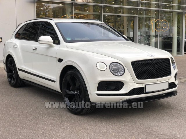 Rental Bentley Bentayga 6.0 litre twin turbo TSI W12 in Pilsen