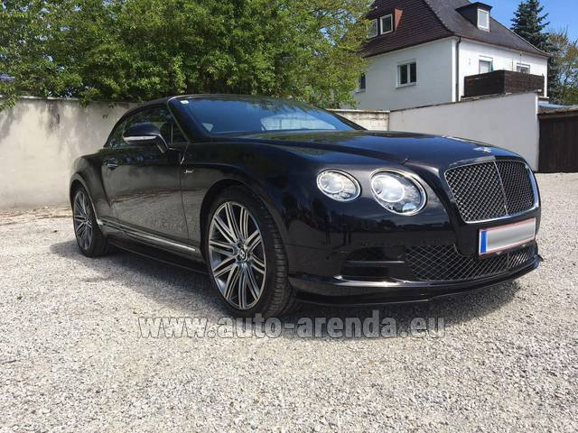 Rental Bentley Continental GTC V12-Speed in The Czech Republic