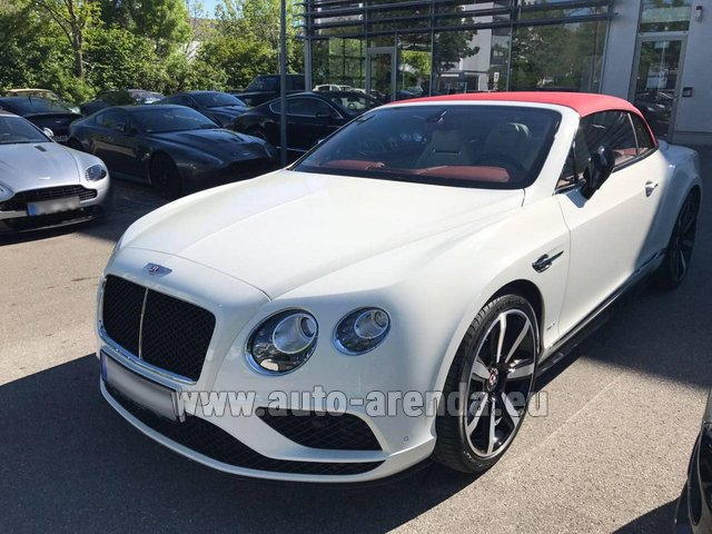Hire and delivery to Prague Airport the car Bentley Continental GTC V8 S