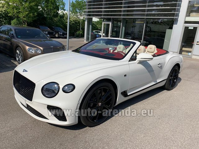 Hire and delivery to Prague Airport the car Bentley GTC W12 First Edition