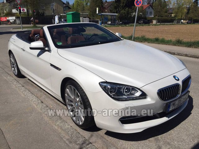 Rental BMW 640 Cabrio Equipment M-Sportpaket in The Czech Republic