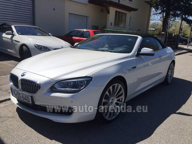 Rental BMW 640d Cabrio Equipment M-Sportpaket in The Czech Republic