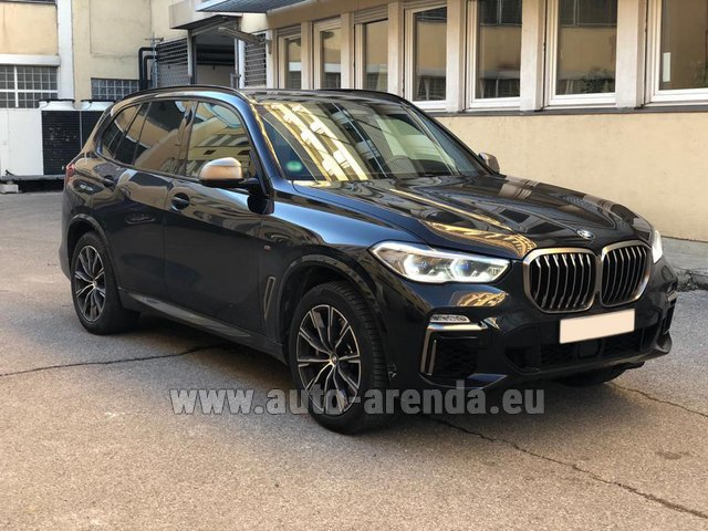 Hire and delivery to Prague Airport the car BMW X5 M50d XDRIVE