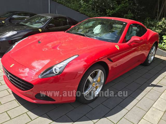 Rental Ferrari California T Cabrio Red in The Czech Republic