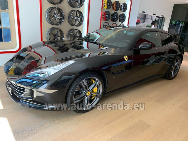Hire and delivery to Prague Airport the car Ferrari GTC4Lusso