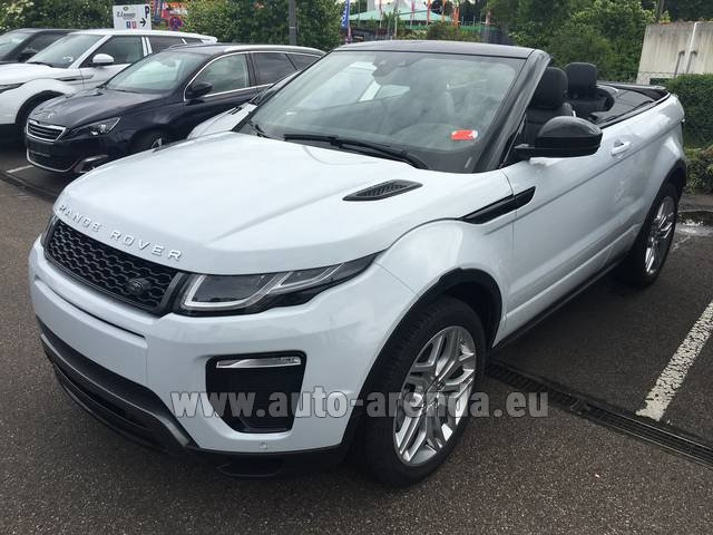 Rental Land Rover Range Rover Evoque HSE Cabrio SD4 Aut. Dynamic in The Czech Republic