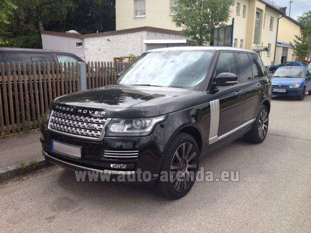 Hire and delivery to Prague Airport the car Land Rover Range Rover SDV8 Autobiography