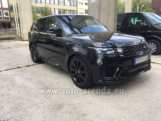 Hire and delivery to Prague Airport the car Land Rover Range Rover SPORT