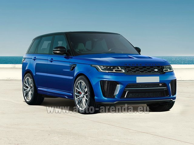 Hire and delivery to Prague Airport the car Land Rover Range Rover Sport SVR V8