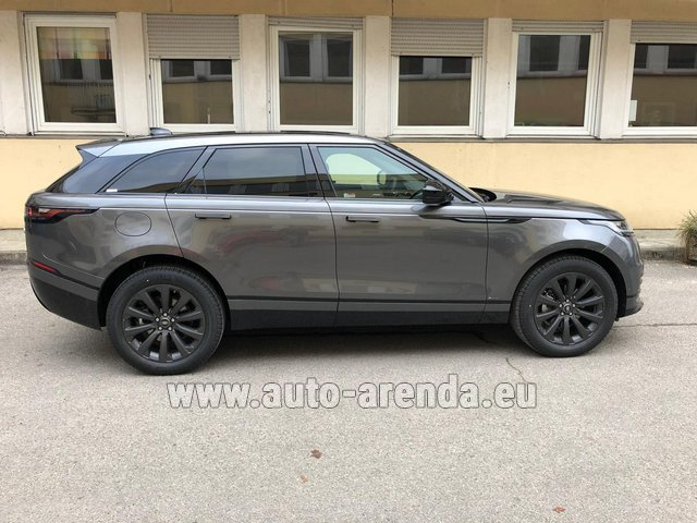 Hire and delivery to Prague Airport the car Land Rover Range Rover Velar P250 SE