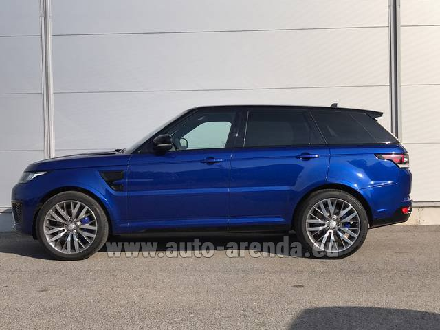 Hire and delivery to Prague Airport the car Land Rover Range Sport SVR V8