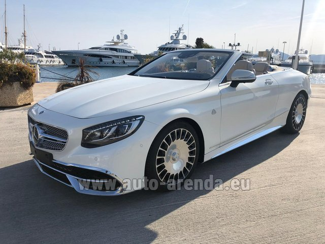 Hire and delivery to Prague Airport the car Maybach S 650 Cabriolet, 1 of 300 Limited Edition
