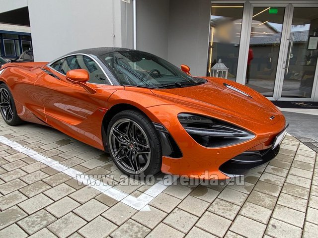 Hire and delivery to Prague Airport the car McLaren 720S