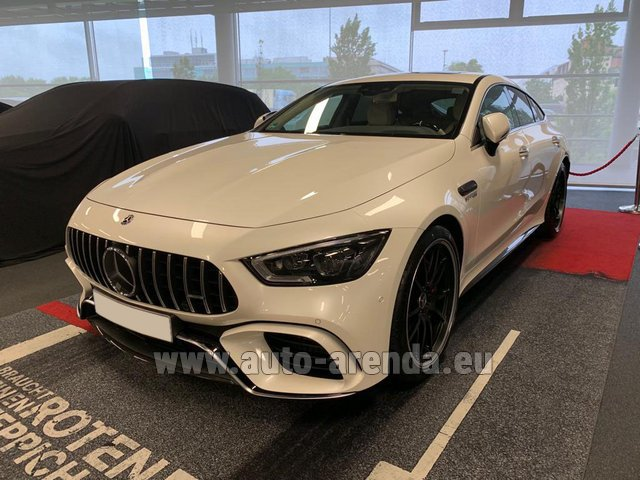 Hire and delivery to Prague Airport the car Mercedes-Benz AMG GT 63 S 4-Door Coupe 4Matic+