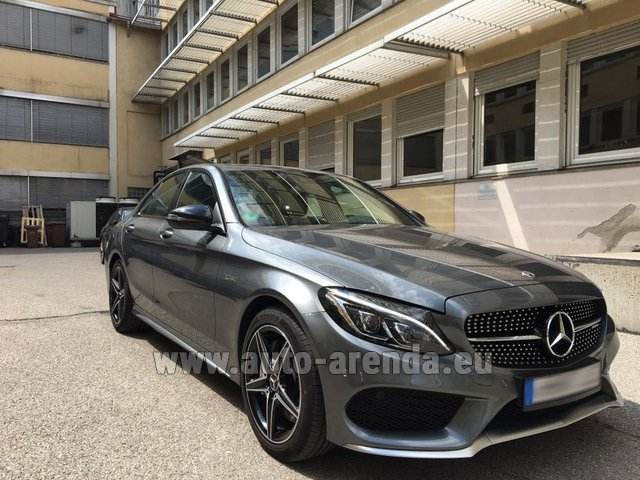 Hire and delivery to Prague Airport the car Mercedes-Benz C-Class C43 AMG BITURBO 4Matic