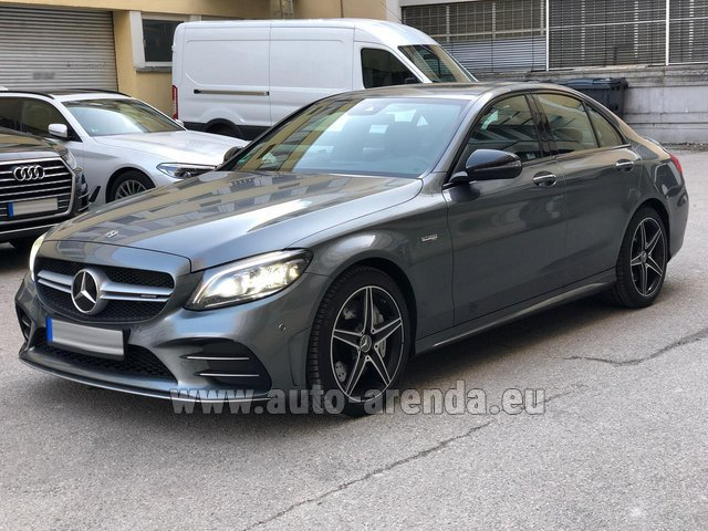 Hire and delivery to Prague Airport the car Mercedes-Benz C-Class C43 BITURBO 4Matic AMG