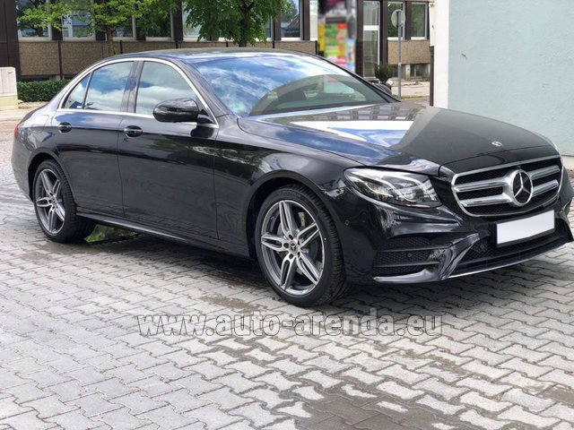 Rental Mercedes-Benz E 450 4MATIC saloon AMG equipment in Pilsen