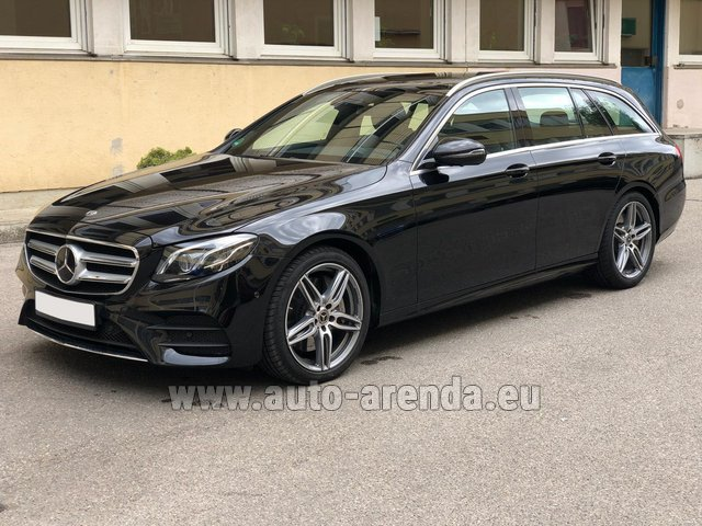 Hire and delivery to Prague Airport the car Mercedes-Benz E 450 4MATIC T-Model AMG equipment