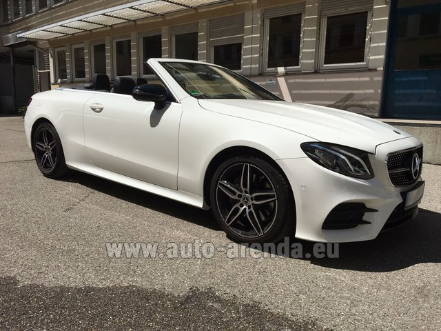 Hire and delivery to Prague Airport the car Mercedes-Benz E-Class E 200 Cabrio