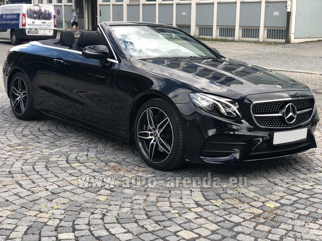 Hire and delivery to Prague Airport the car Mercedes-Benz E-Class E200 Cabrio AMG equipment