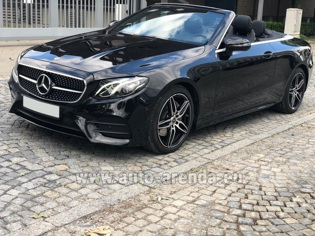 Hire and delivery to Prague Airport the car Mercedes-Benz E-Class E220d Cabriolet AMG equipment