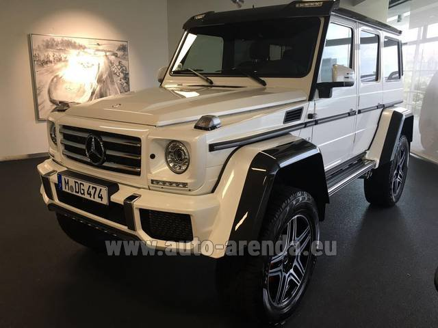 Hire and delivery to Prague Airport the car Mercedes-Benz G 500 4x4 White