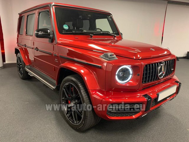 Hire and delivery to Prague Airport the car Mercedes-Benz G 63 AMG biturbo