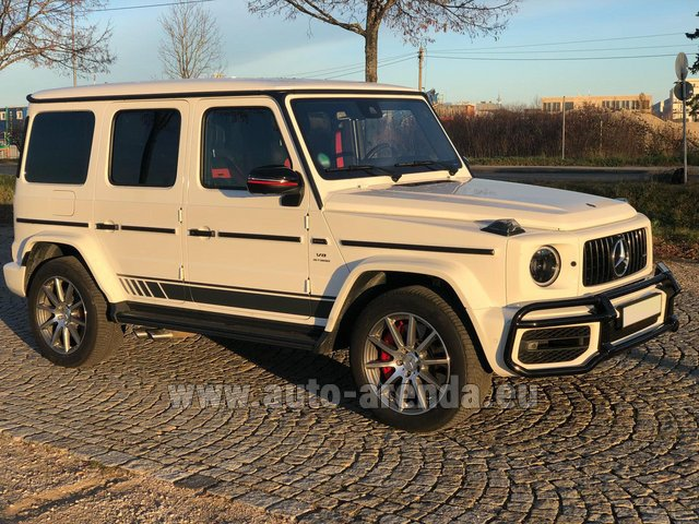 Hire and delivery to Prague Airport the car Mercedes-Benz G 63 AMG White
