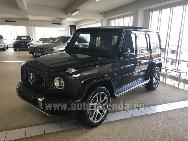 Hire and delivery to Prague Airport the car Mercedes-Benz G63 AMG V8 biturbo