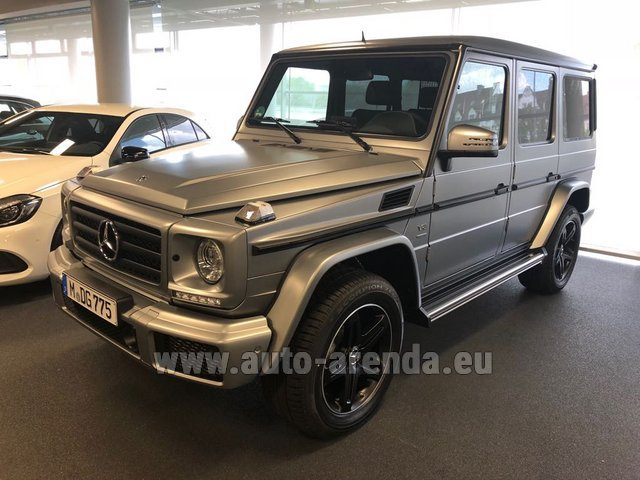 Hire and delivery to Prague Airport the car Mercedes-Benz G-Class G 500 Limited Edition