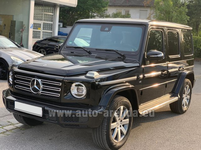Hire and delivery to Prague Airport the car Mercedes-Benz G-Class G500 2019 Exclusive Edition