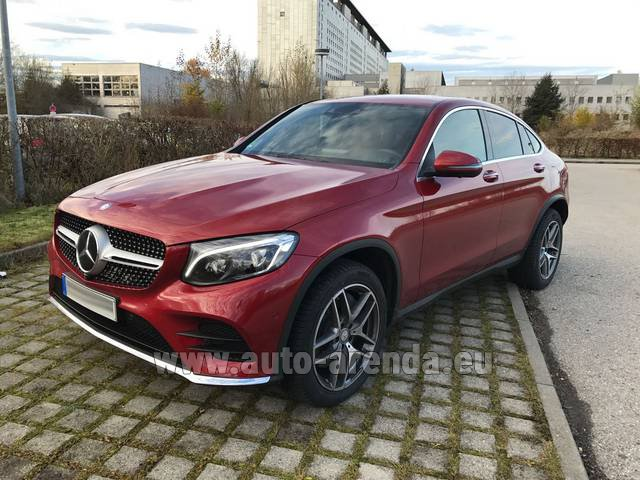 Hire and delivery to Prague Airport the car Mercedes-Benz GLC Coupe