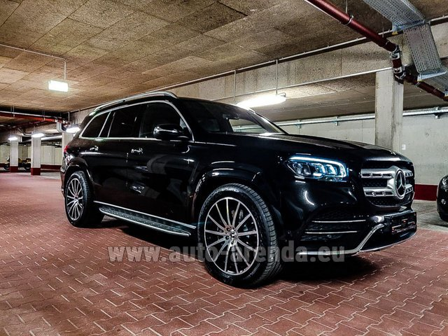 Hire and delivery to Prague Airport the car Mercedes-Benz GLS 400d 4MATIC BlueTEC equipment AMG