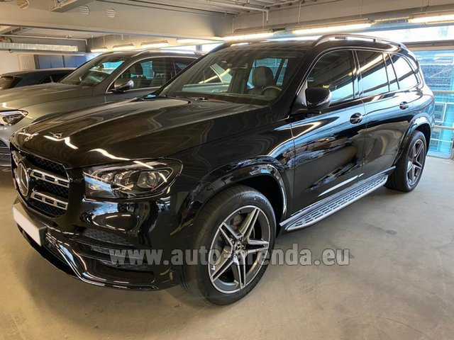 Hire and delivery to Prague Airport the car Mercedes-Benz GLS 400d BlueTEC 4MATIC equipment AMG