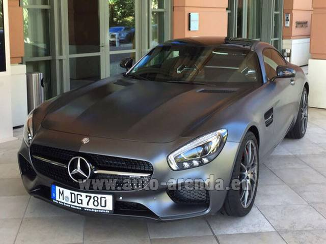 Hire and delivery to Prague Airport the car Mercedes-Benz GT-S AMG