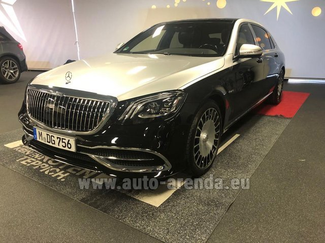 Прокат Maybach S 560 4MATIC комплектация AMG Metallic and Black в Остраве