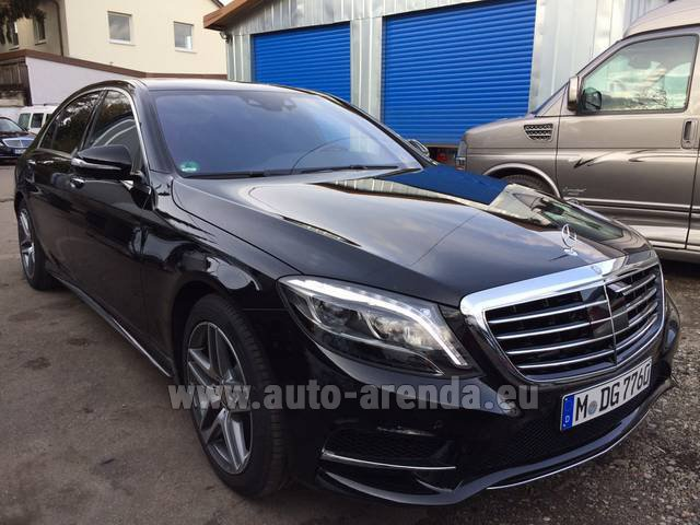 Rental Mercedes-Benz S 350 L BlueTEC AMG in Brno