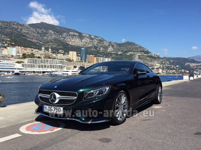 Hire and delivery to Prague Airport the car Mercedes-Benz S 500 Coupe 4Matic 7G-TRONIC AMG