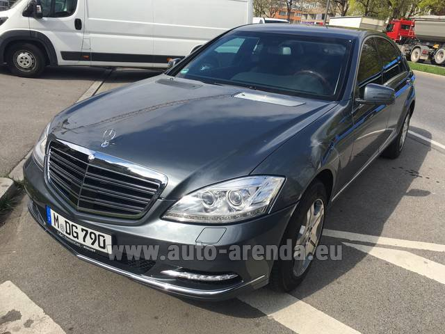Hire and delivery to Prague Airport the car Mercedes-Benz S 600 L B6 B7 ARMORED Guard FACELIFT