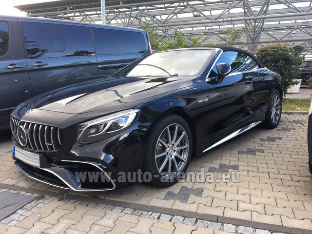 Rental Mercedes-Benz S 63 AMG Cabriolet V8 BITURBO 4MATIC+ in The Czech Republic