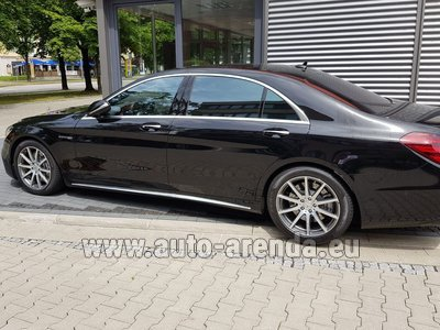 Mercedes S63 AMG Long 4MATIC для трансферов из аэропортов и городов в Чехии и Европе.