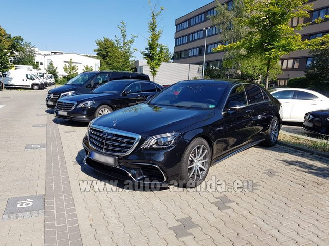Hire and delivery to Prague Airport the car Mercedes-Benz S 63 AMG Long