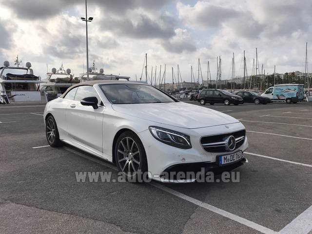 Hire and delivery to Prague Airport the car Mercedes-Benz S 63 Cabrio AMG