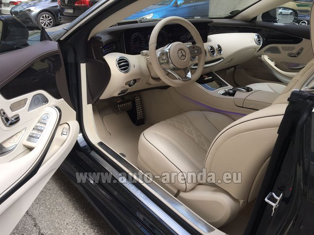 Rental Mercedes-Benz S-Class S 560 4MATIC Coupe in Brno