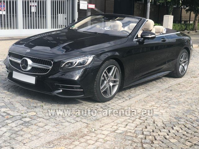 Hire and delivery to Prague Airport the car Mercedes-Benz S-Class S 560 Cabriolet 4Matic AMG equipment