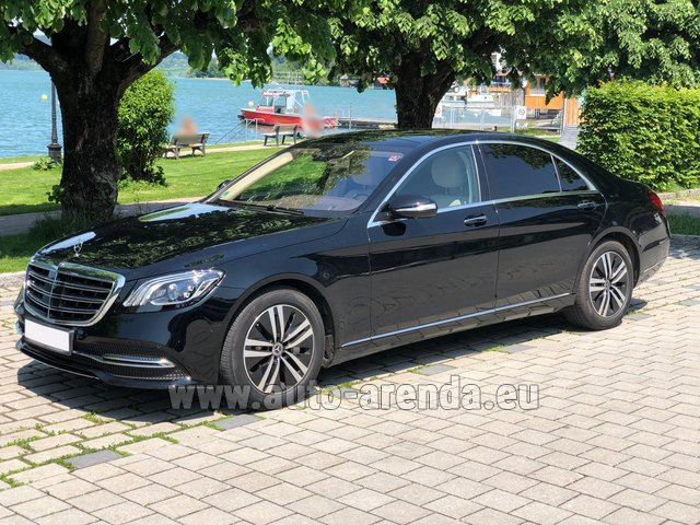 Hire and delivery to Prague Airport the car Mercedes-Benz S-Class S400 Long 4Matic Diesel AMG equipment
